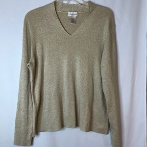 Studio Works Shimmery Gold Sweater